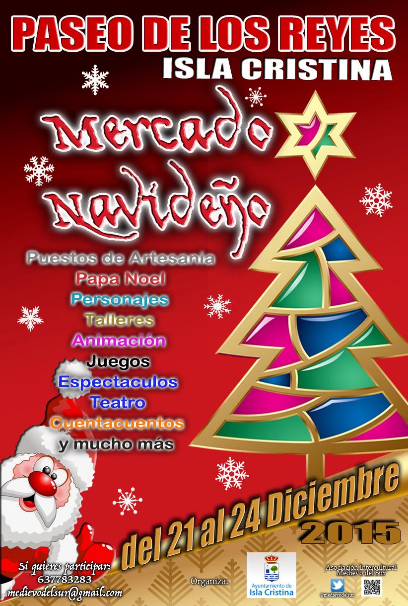 Cartel mercado Navideño isla cristina