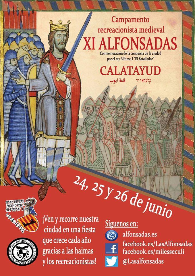 Invitación para asistir al Campamento Recreacionista de las Alfonsadas, que se repartirá en Teruel con motivo de las Bodas de Isabel, por Miles Seculi.
