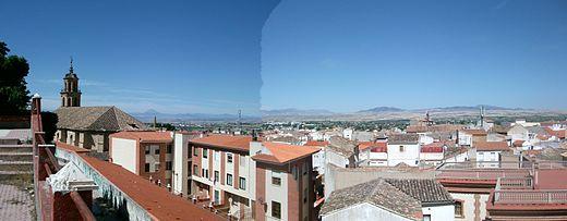 Panorámica de Baza desde la Alcazaba.
