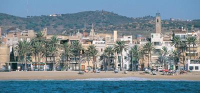 Vista de Badalona desde el mediterraneo