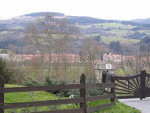 Vista de Zalla desde Ibarra