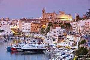 Harbour and waterfront of Ciutadella, Menorca, Balearic Islands, Spain