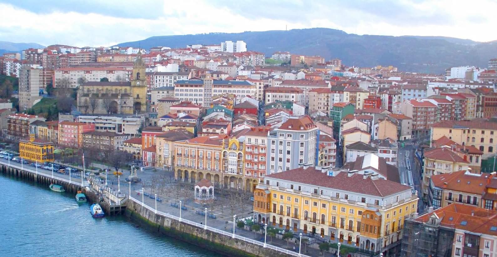 Vista de Portugalete desde el Puente de Vizcaya