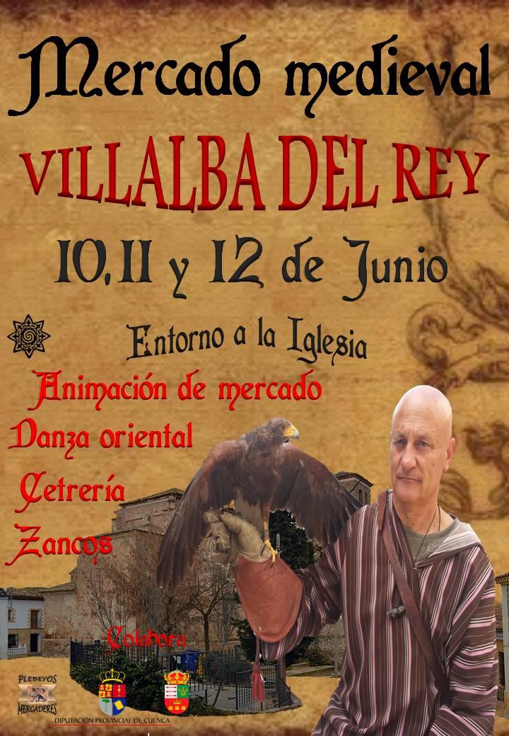 Cartel del mercado medieval de Villalba del Rey, Cuenca
