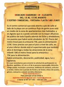 Inform Marinera Alicante Fontana Playa_San _Juan 2016