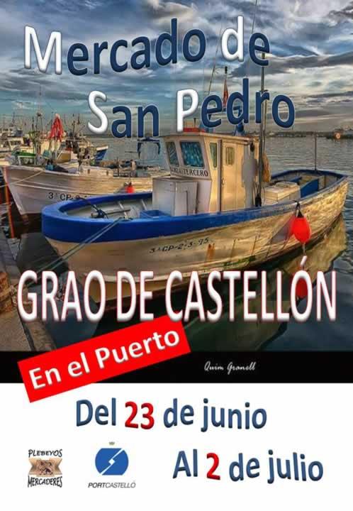 Mercado artesanal en el Grao de Castellón, del 23 de Junio al 02 de Julio del 2017.
