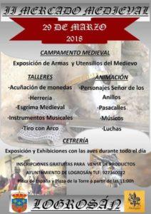 Cartel programa del mercado medieval de Logrosan