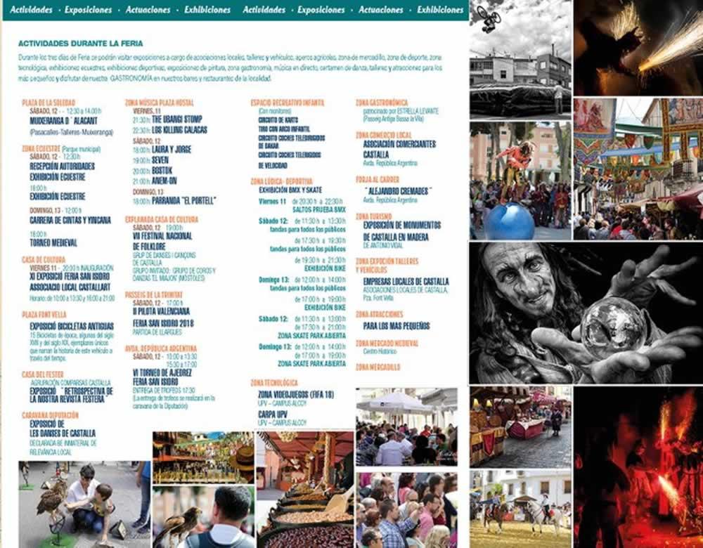 Actividades programadas durante la Feria de San Isidro