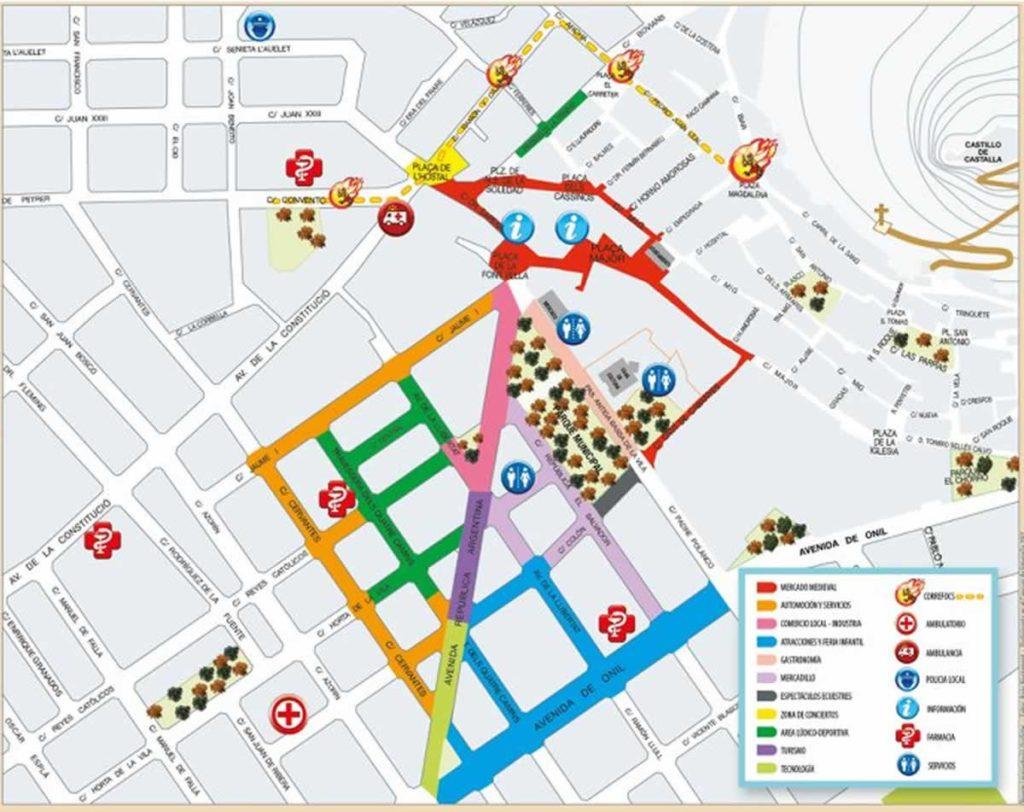 Mapa de la Feria de San Isidro