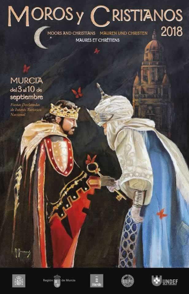 cartel del mercado medieval de moros y cristianos en Murcia