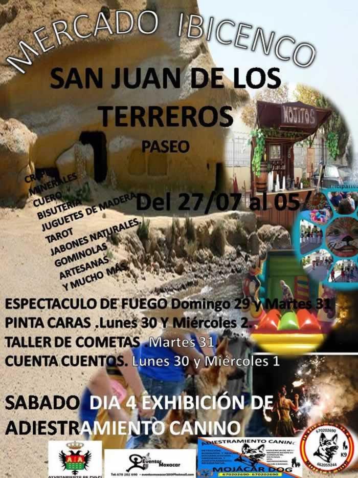 mercado ibicenco en San Juan de los Terreros