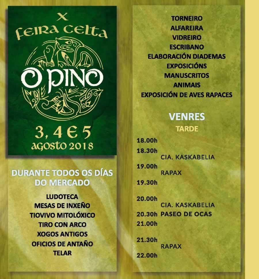 X Feira Celta Gratuita En O Pino La Coru 241 A Del 03 Al 05