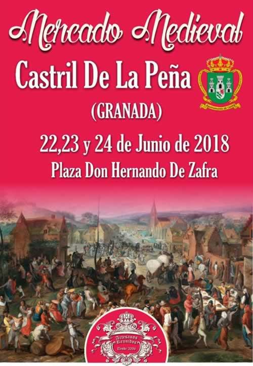 Cartel del Mercado medieval en Castril de la Peña, Granada