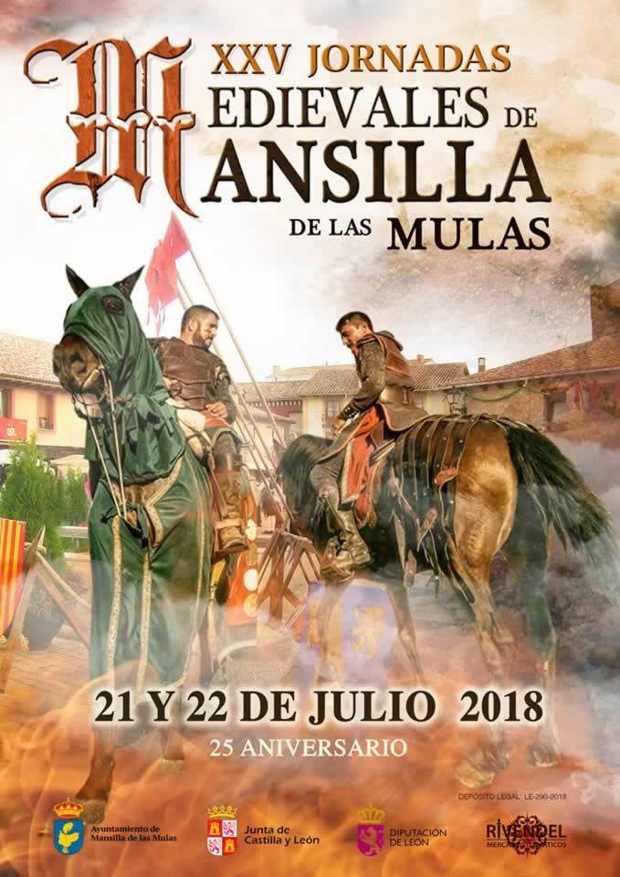 JORNADAS MEDIEVALES en Mansilla de las Mulas, Leon del 21 y 22 de Julio del 2018