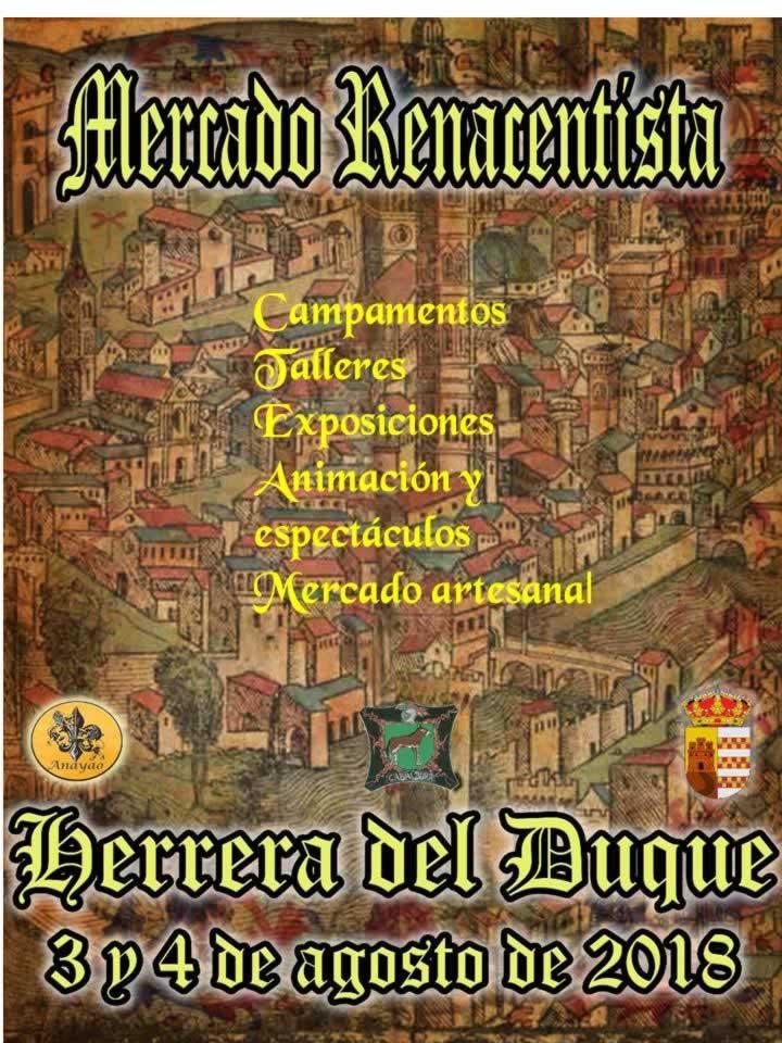 mercado renacentista gratuito en Herrera del Duque, Badajoza