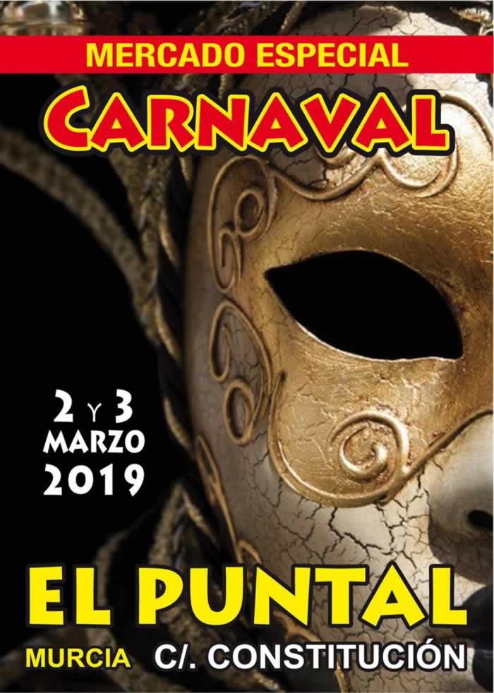mercado de carnaval en El Puntal, Murcia