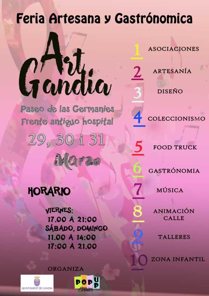 [29 al 31 de Marzo] Feria gastronomica y artesania en Gandia, Valencia