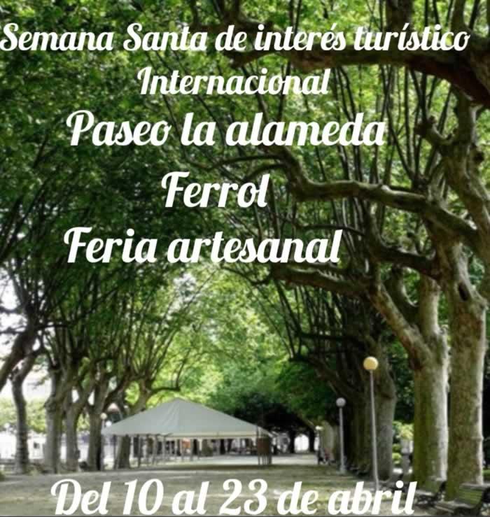 Mercado de artesania en El Ferrol, La Coruña del 10 al 23 de Abril del 2019