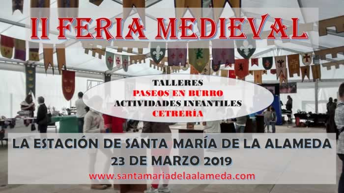 Mercado medieval en Santa Maria de la Alameda