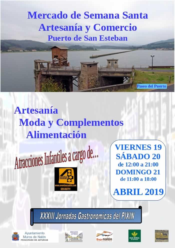 [19 al 21 de Abril] Mercado de semana santa de artesania y comercio en San Esteban de Pravia, Asturias