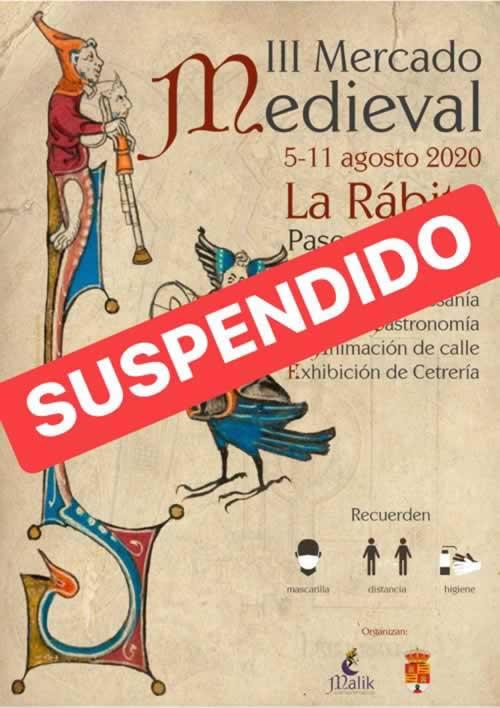 cartel del mercado medieval en La Rabita , Albuñol, Granada
