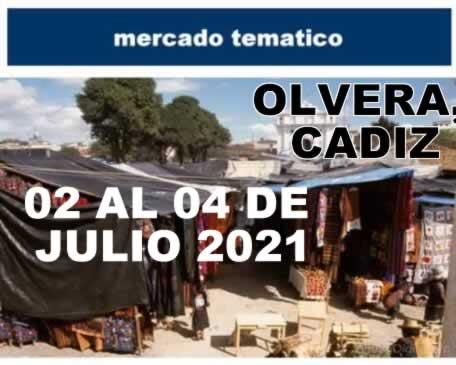 Mercado tematico en Olvera, Cadiz
