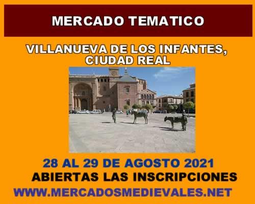 Mercado tematico en Villanueva de los infantes