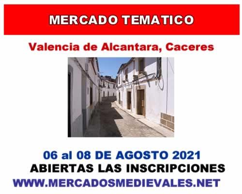 mercado tematico Valencia de Alcantara