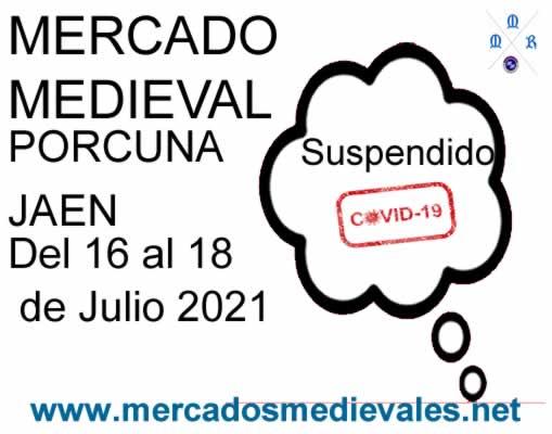 Mercado medieval Porcuna suspendido