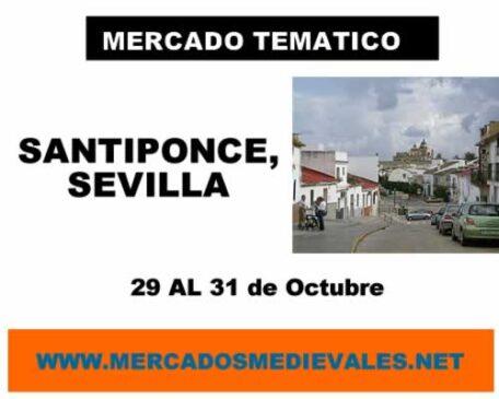 Mercado tematico Santiponce, Sevilla