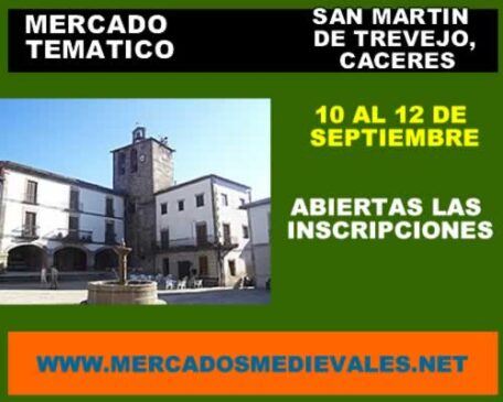 San Martin de Trevejo, Caceres Mercado tematico