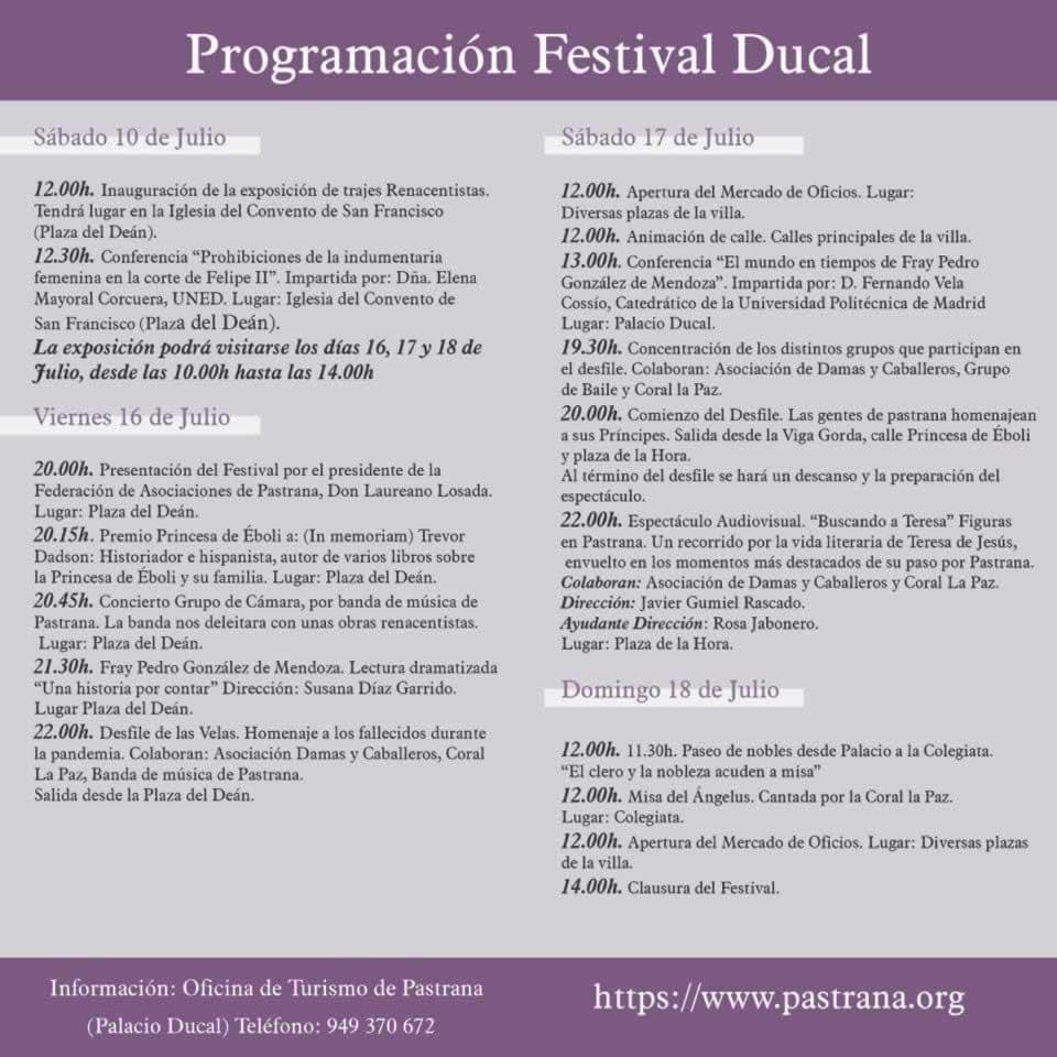Programa del Festival ducal de Pastrana