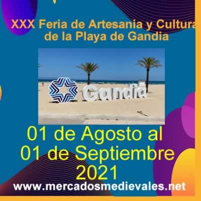 XXX Feria de Artesania y Cultura de la Playa de Gandia