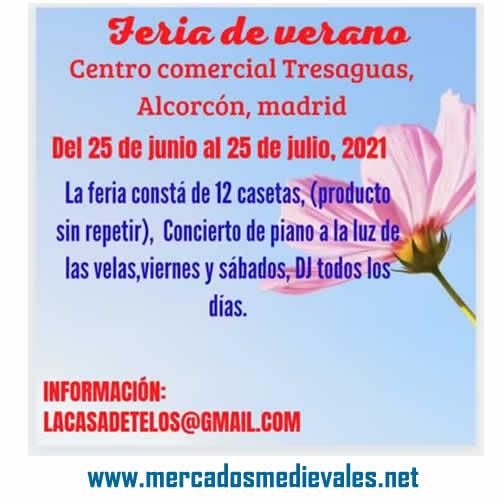 Feria de verano en centro comercial Tresaguas de Alcorcon