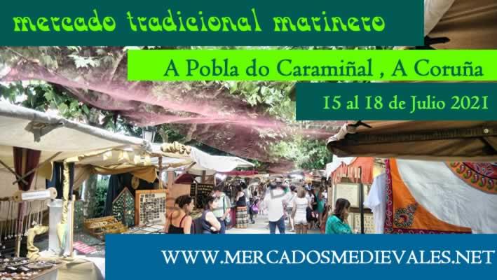 Feria marinera tradicional en A pobra do Caramiñal