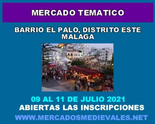 Mercado tematico en el barrio el palo de Malaga
