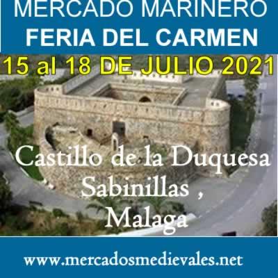 Mercado marinero en el Castillo de la Duquesa, Sabinillas, Malaga