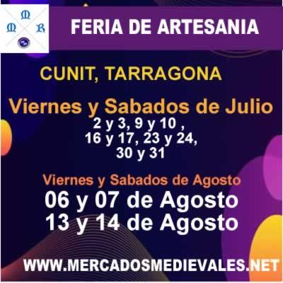 Feria de artesania en Cunit, Tarragona
