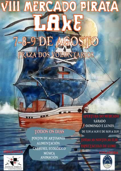 mercado pirata en Laxe