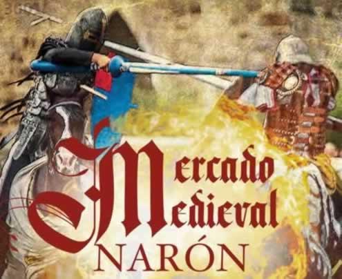 Mercado medieval en Naron La Coruña