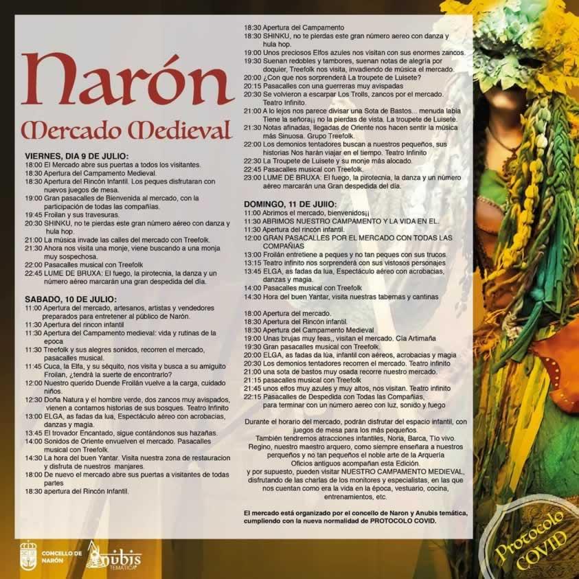 PROGRAMACION MERCADO MEDIEVAL NARON
