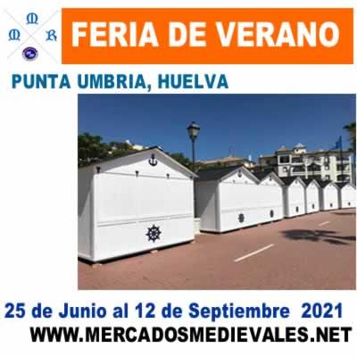 Feria de verano junto al puerto deportivo de Punta Umbría.