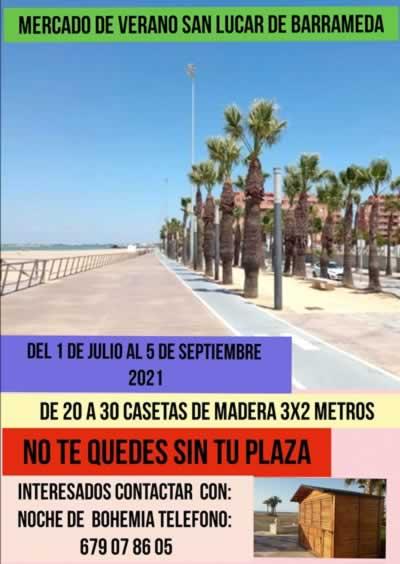 Mercado de verano en San Lucar de Barrameda