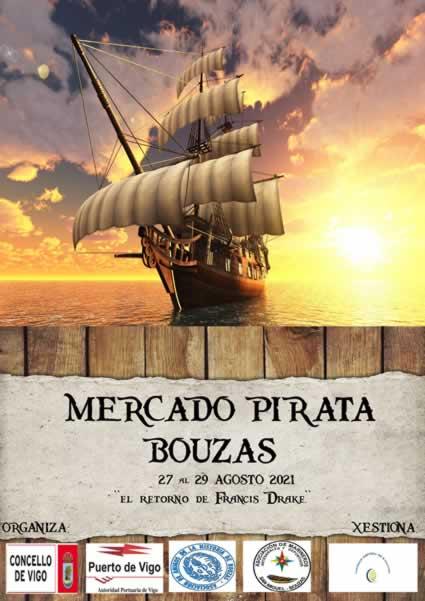 """Mercado de tematica pirata """"El Retorno de Francis Drake"""""""