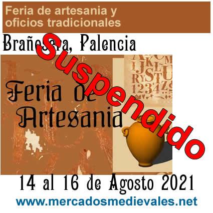 Feria de artesania y oficios tradicionales en Brañosera, Palencia