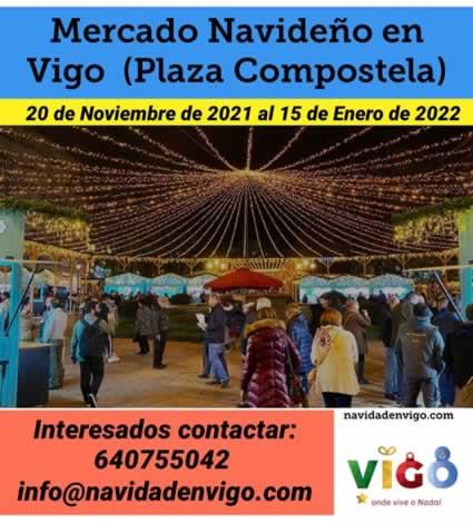 Mercado navideño en Vigo