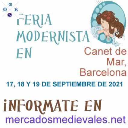 FERIA MODERNISTA CANET DE MAR en Canet de Mar, Barcelona