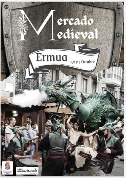 El centro de Ermua se vestira con los colores y el ambiente medieval en el mes de Octubre 2021.