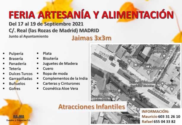 Feria de artesania y alimentacion en Las Rozas