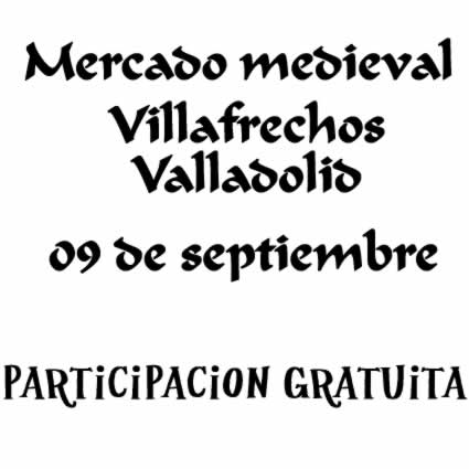 Mercado medieval Villafrechos